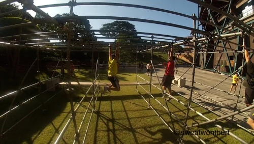 Monkey Bars! I almost feel trying to get up to the first one!