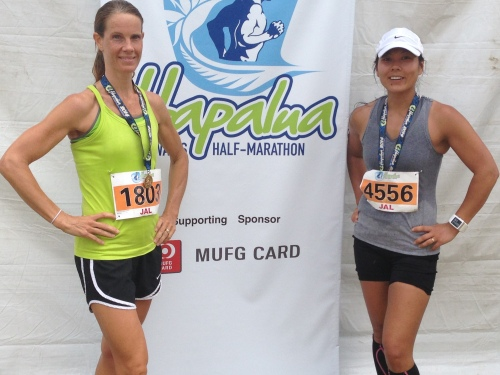 My friend Raquel, who ran her first half marathon and kicked butt!