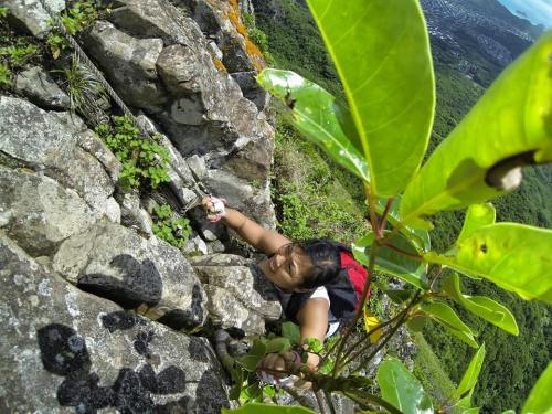 more rock climbing...
