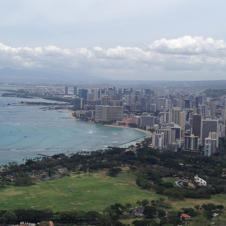 View of Waikiki from top.